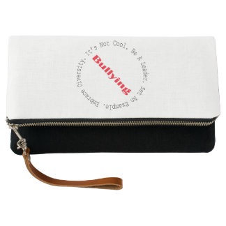 Stop Bullying-Outline by Shirley Taylor Clutch