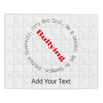 Stop Bullying-Outline by Shirley Taylor Jigsaw Puzzle