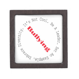 Stop Bullying-Outline by Shirley Taylor Keepsake Box