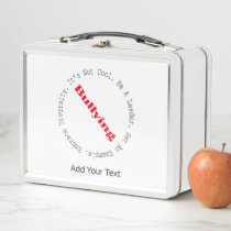 Stop Bullying-Outline by Shirley Taylor Metal Lunch Box