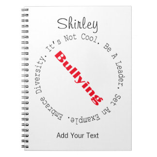 Stop Bullying-Outline by Shirley Taylor Notebook