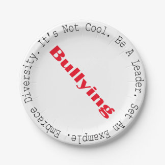 Stop Bullying-Outline by Shirley Taylor Paper Plate