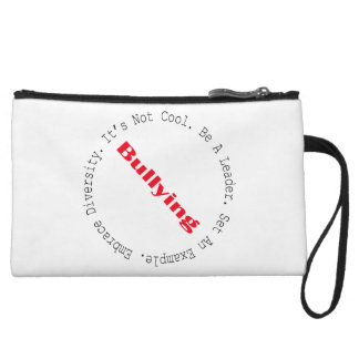 Stop Bullying-Outline by Shirley Taylor Wristlet