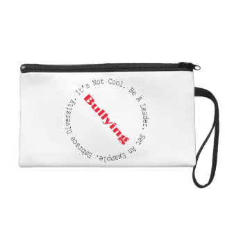 Stop Bullying-Outline by Shirley Taylor Wristlet Purse