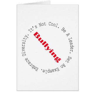 Stop Bullying-Outline Card