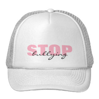 Stop Bullying Pink Simple Hat