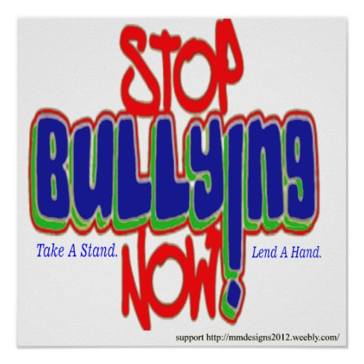 stop bullying posters