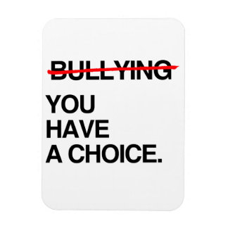 STOP BULLYING YOU HAVE A CHOICE RECTANGLE MAGNETS