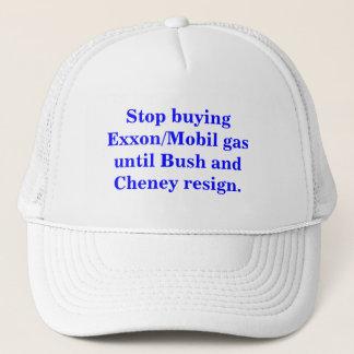 Stop buying Exxon/Mobil gas until Bush resigns. Trucker Hat