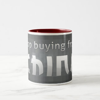 Stop Buying From China Two-Tone Coffee Mug