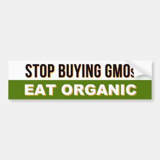 Stop Buying GMOs - Eat Organic bumper sticker