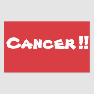 STOP Cancer Stop Sign Sticker