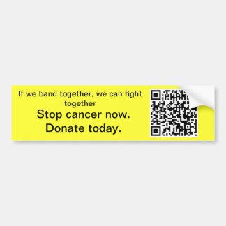 Stop cancer today Bumper Sticker Car Bumper Sticker