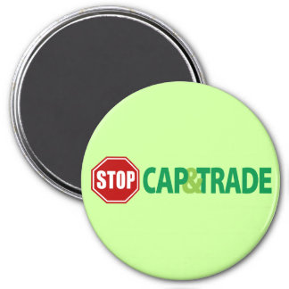 Stop Cap And Trade 3 Inch Round Magnet