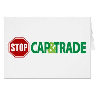 Stop Cap And Trade Card