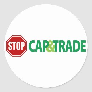 Stop Cap And Trade Classic Round Sticker