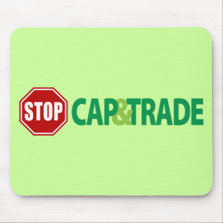 Stop Cap And Trade Mouse Pad