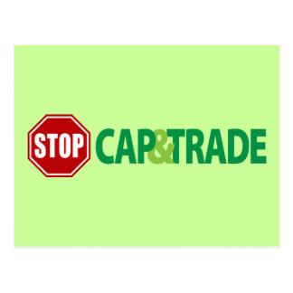Stop Cap And Trade Postcard