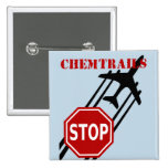 Stop chemtrails 2 inch square button