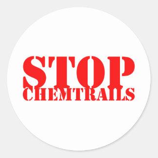 Stop Chemtrails - Adesivo Redondo