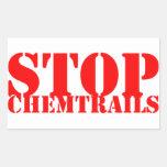 Stop Chemtrails - Adesivo Retangular Pegatina Rectangular