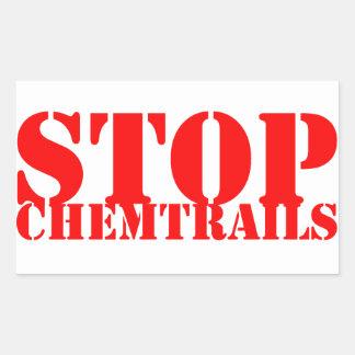 Stop Chemtrails - Adhesive Rectangular