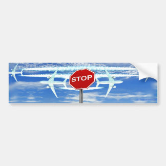 Stop Chemtrails Car Bumper Sticker