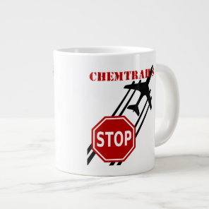 Stop chemtrails giant coffee mug