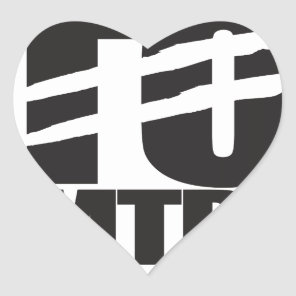 Stop Chemtrails Heart Sticker