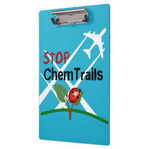 Stop Chemtrails Lady Bug Ecocide Clipboard