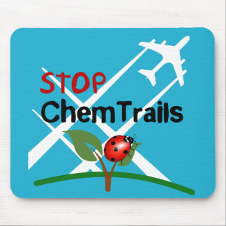 Stop Chemtrails Lady Bug Ecocide Mouse Pad