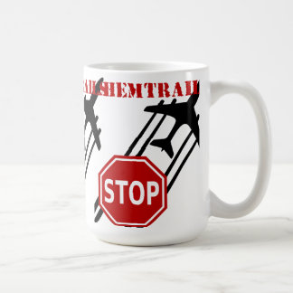 Stop chemtrails classic white coffee mug