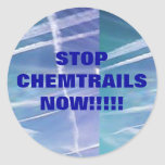 Stop Chemtrails Now!! Classic Round Sticker