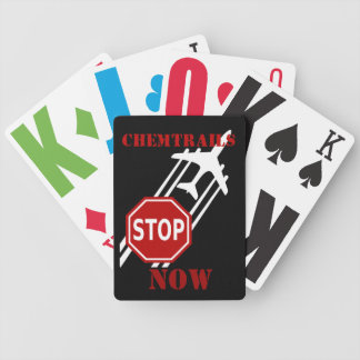 Stop chemtrails bicycle playing cards