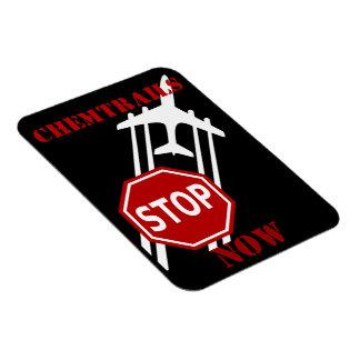 Stop chemtrails rectangular photo magnet