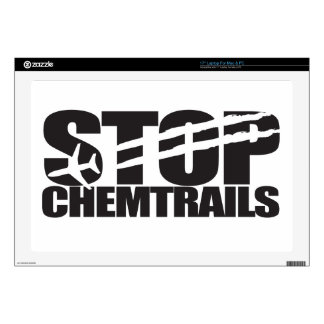 """Stop Chemtrails Skin For 17"""" Laptop"""