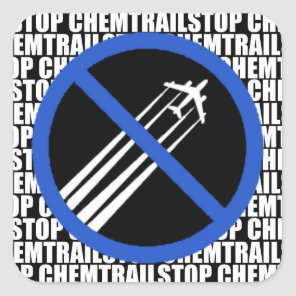 Stop Chemtrails! Square Sticker