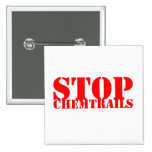 Stop Chemtrails - Squared Botton Pinback Buttons