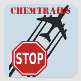 Stop chemtrails stickers