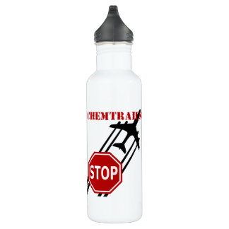 Stop chemtrails water bottle
