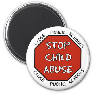 Stop Child Abuse 2 Inch Round Magnet