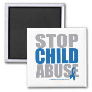 Stop Child Abuse 2 Inch Square Magnet