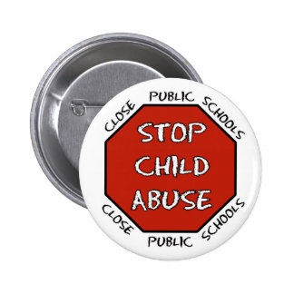Stop Child Abuse Pinback Button