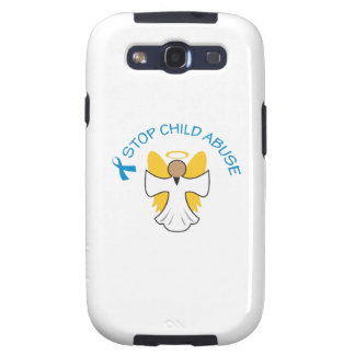 STOP CHILD ABUSE GALAXY SIII COVERS