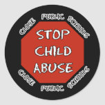 Stop Child Abuse Classic Round Sticker