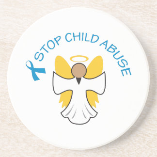 STOP CHILD ABUSE DRINK COASTERS