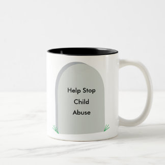 stop child abuse coffee cup