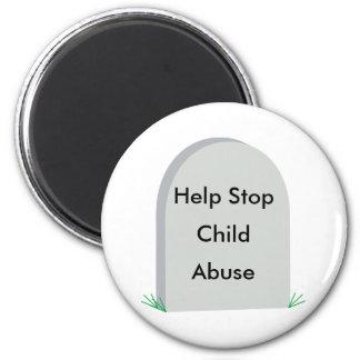 stop child abuse  fridge magnet