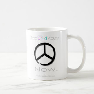 Stop Child Abuse Now Classic White Coffee Mug
