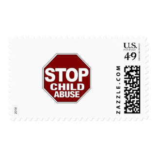 Stop Child Abuse Postage